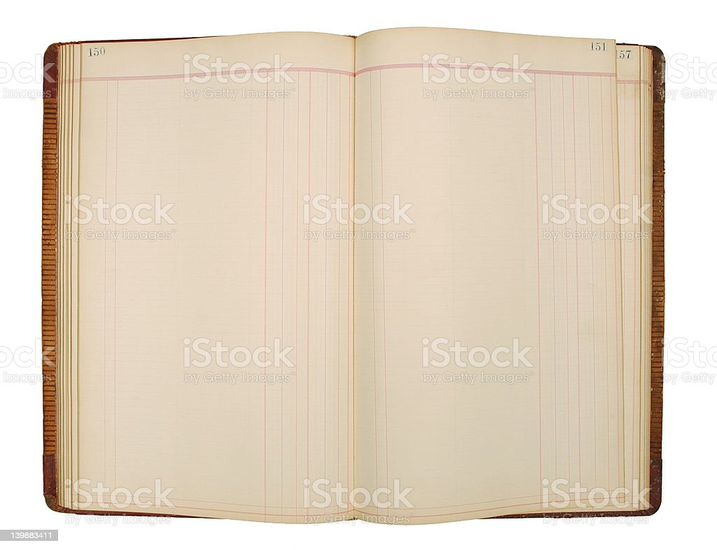 Ledger pages royalty-free stock photo