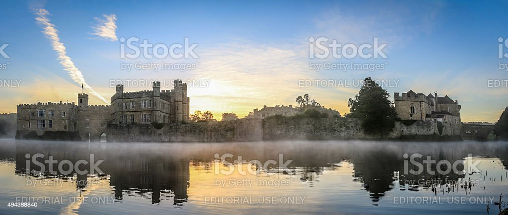 Leeds castle, at dawn. stock photo