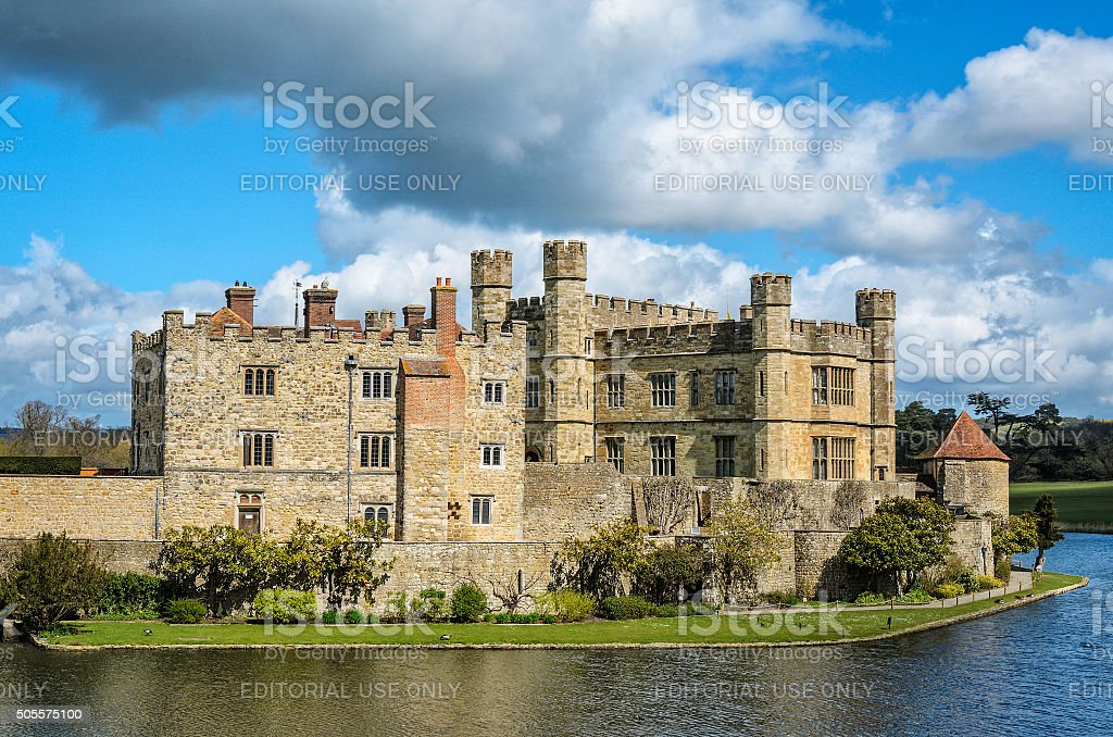Leeds castle in England stock photo