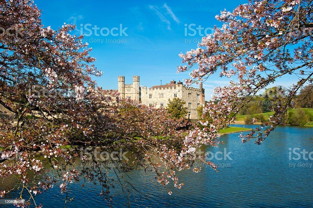Leeds Castle in Kent stock photo