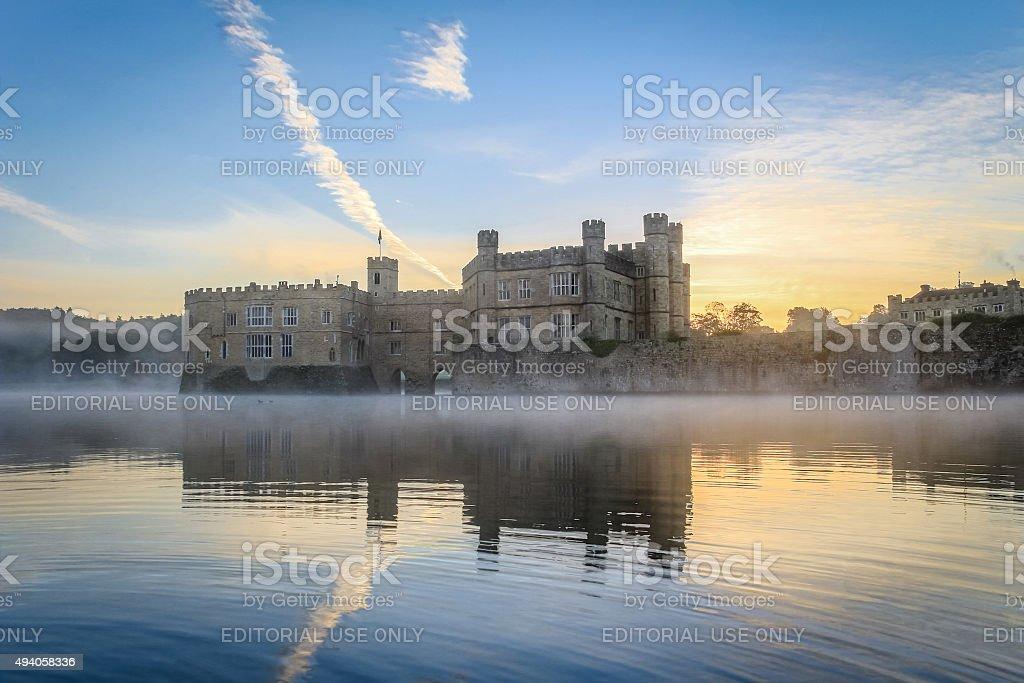 Leeds Castle, Kent, England, at dawn stock photo