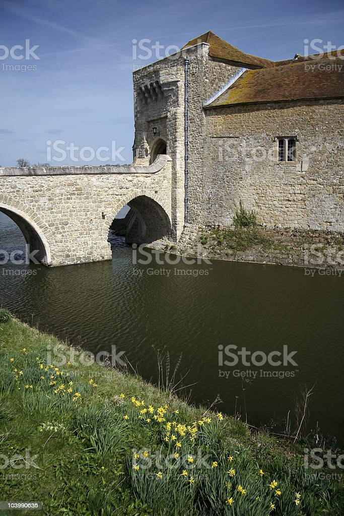 leeds castle moat kent royalty-free stock photo