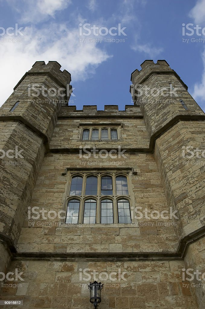 Leeds Castle Turrets royalty-free stock photo