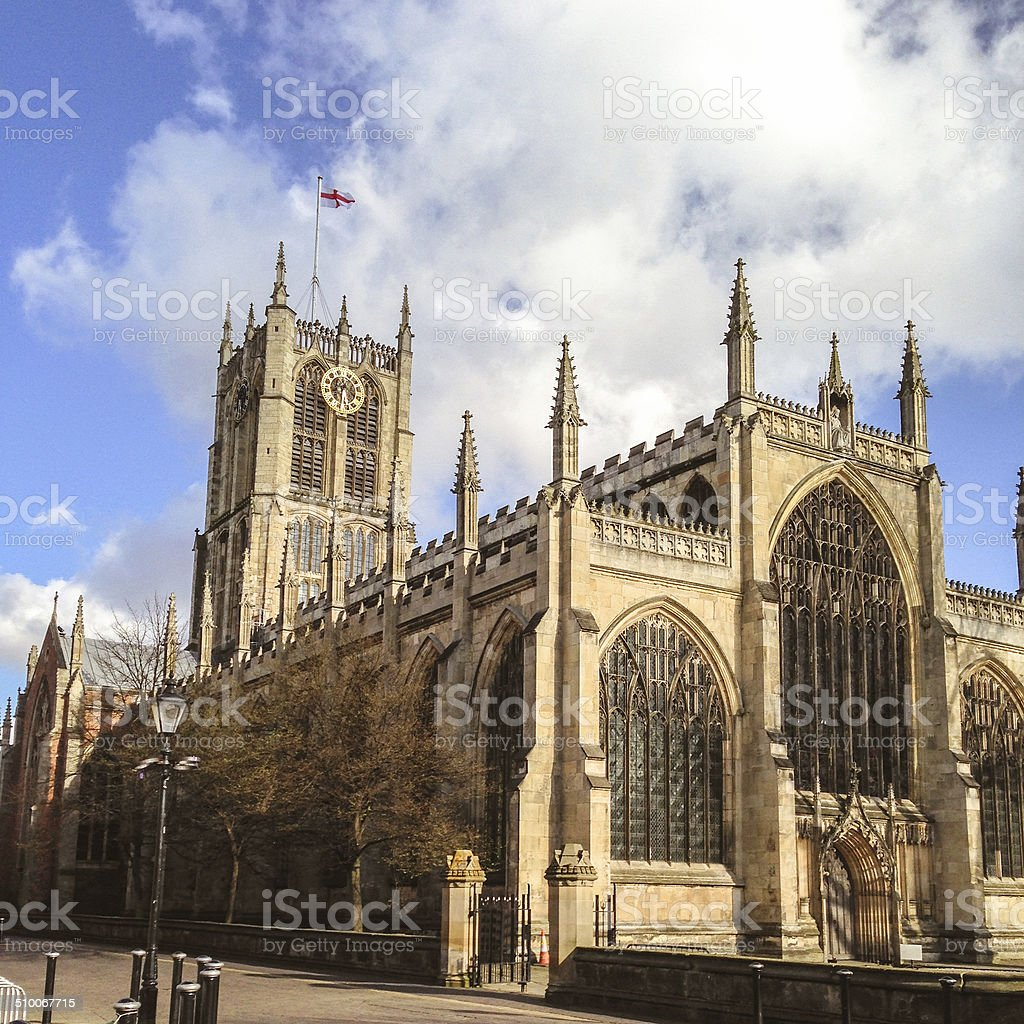 leeds cathedral stock photo