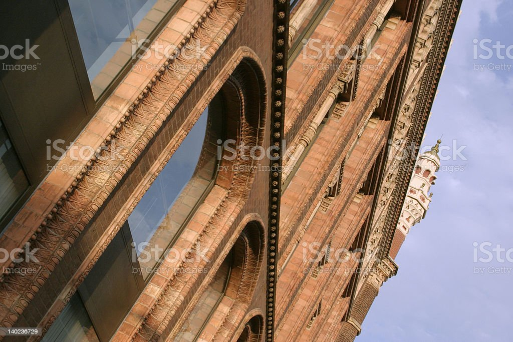 Leeds City Center area, West Yorkshire royalty-free stock photo