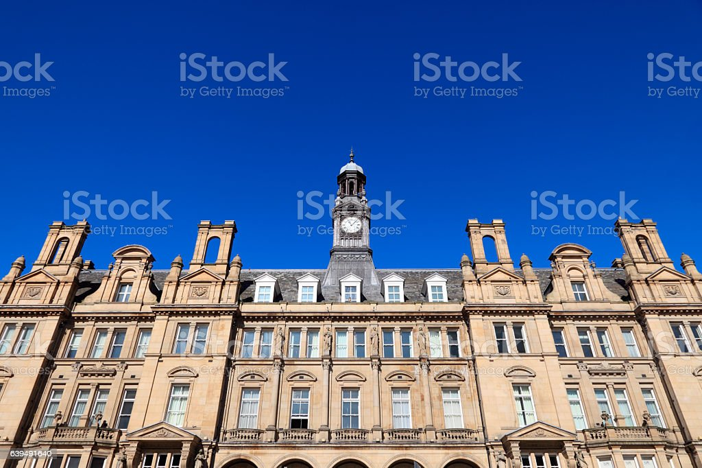 Leeds City Square - Old Post Office building stock photo