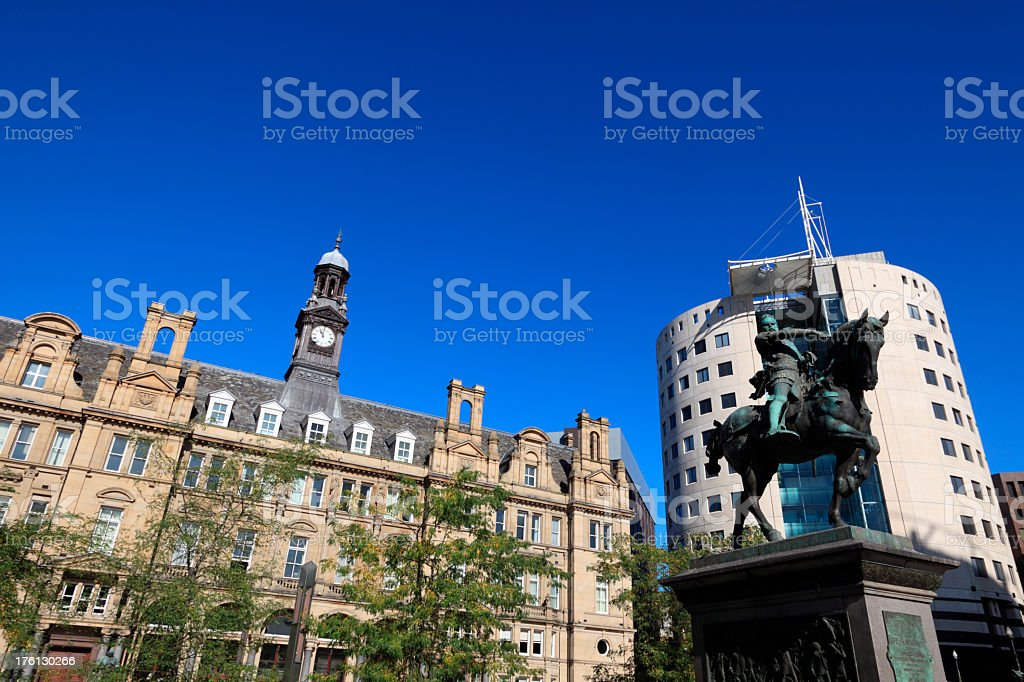 Leeds City Square stock photo