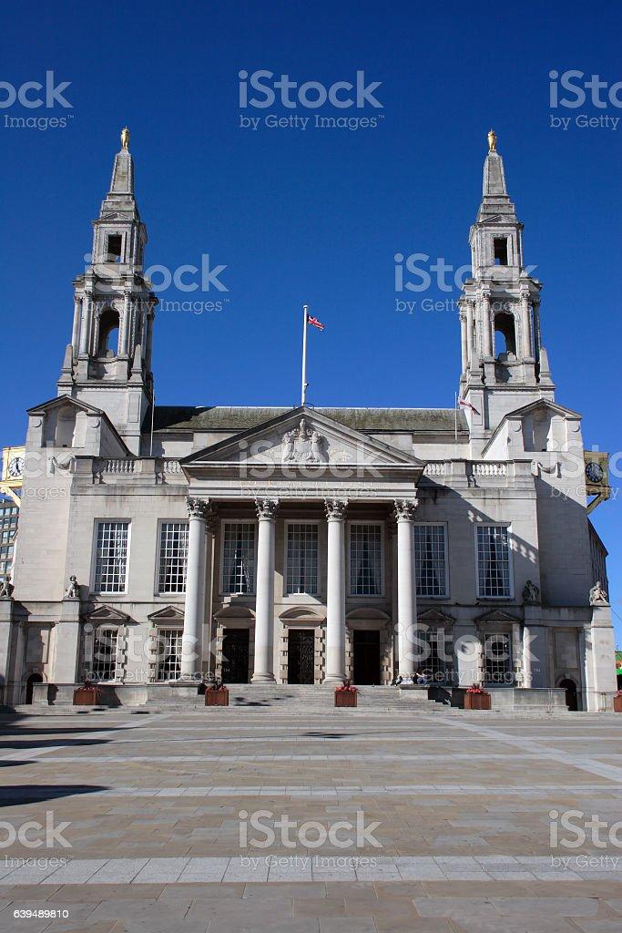 Leeds civic hall in Millennium Square stock photo