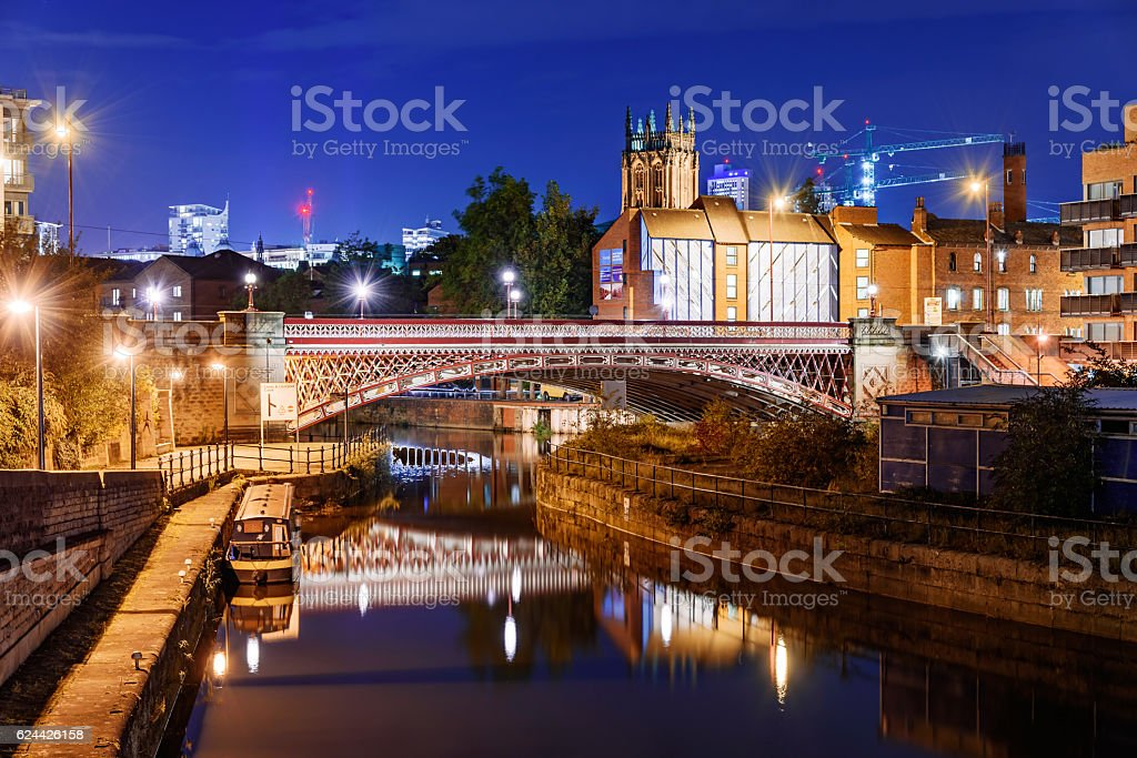 Leeds Clarence Dock- England stock photo