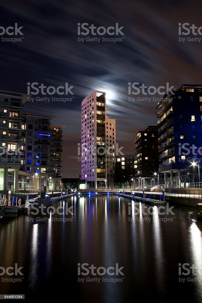 Leeds - Clarence dock stock photo
