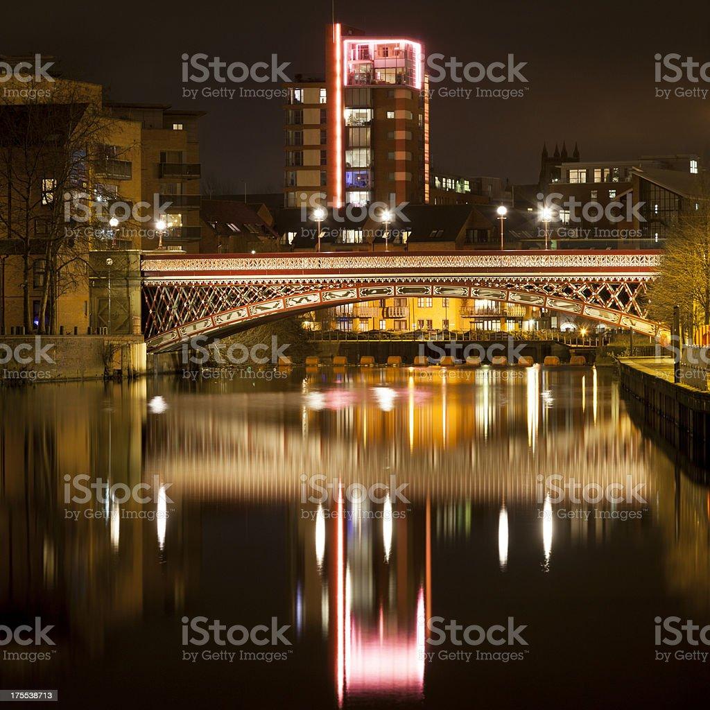 Leeds Crown Point Bridge royalty-free stock photo