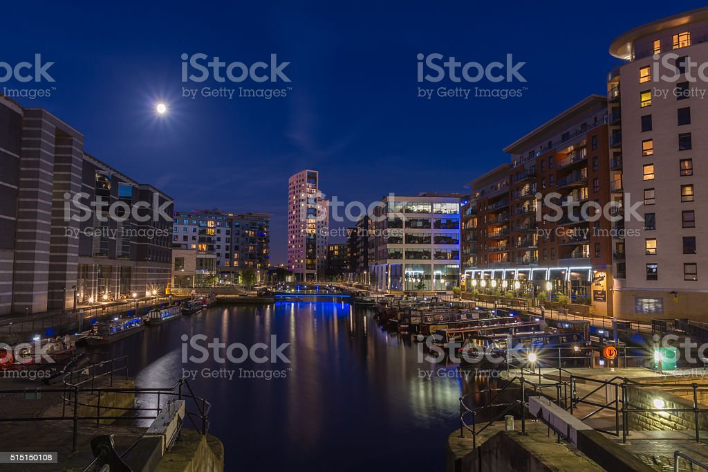 Leeds Dock and The Royal Armouries stock photo