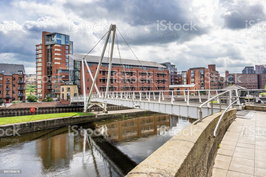 Leeds Dock stock photo