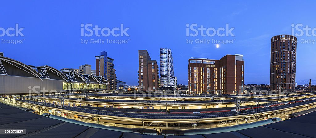 Leeds panorama stock photo