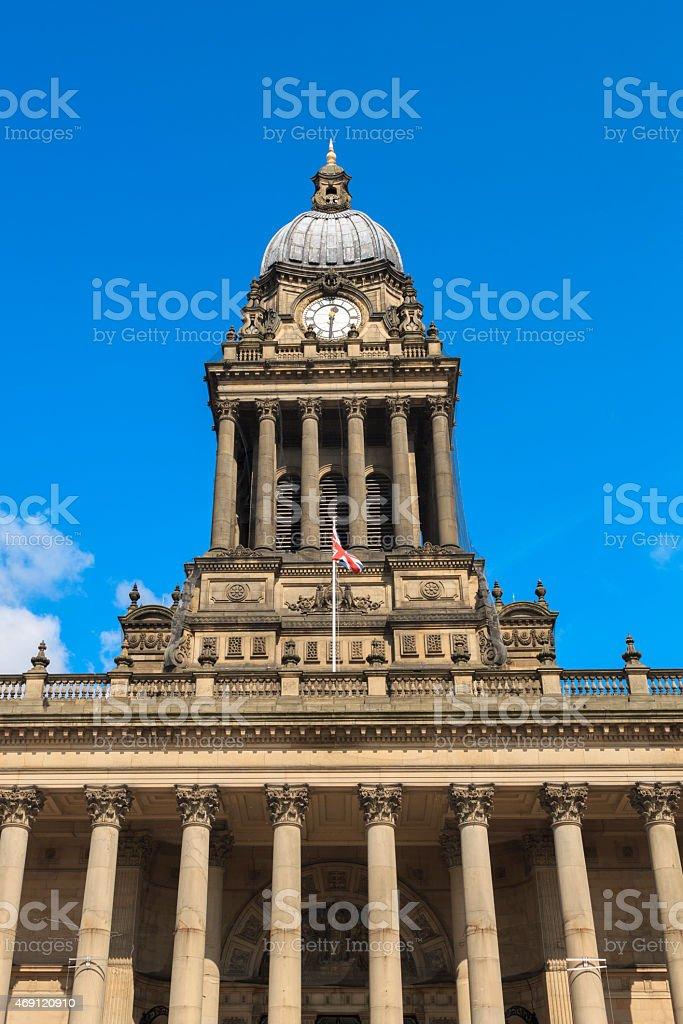 Leeds Town Hall, Leeds, West Yorkshire. stock photo