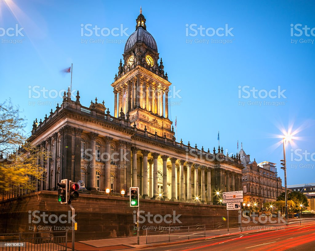 Leeds Town Hall stock photo