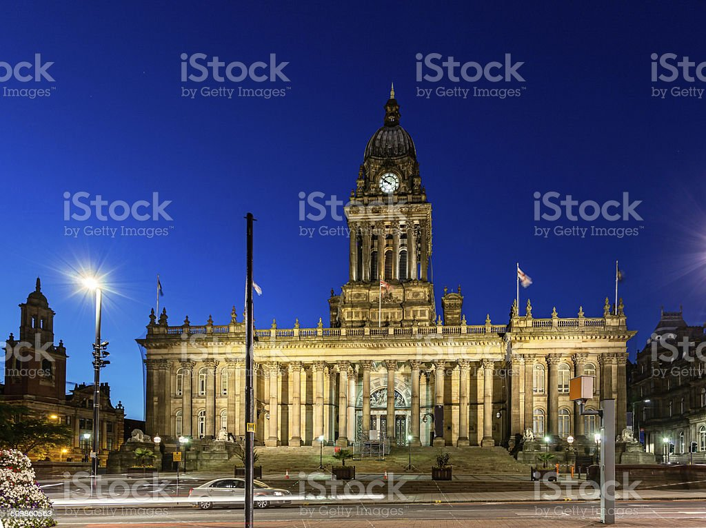 Leeds Townhall stock photo