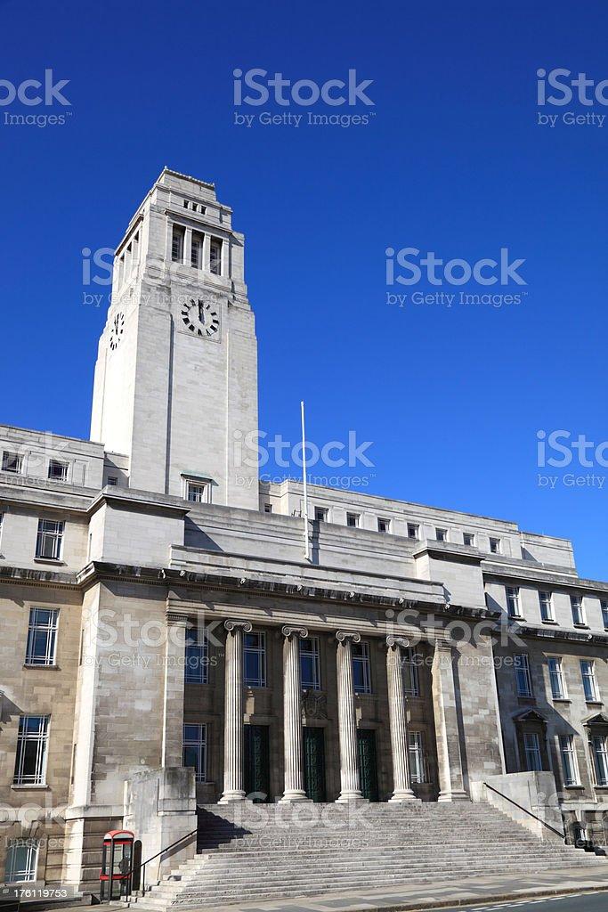 Leeds University Campus royalty-free stock photo