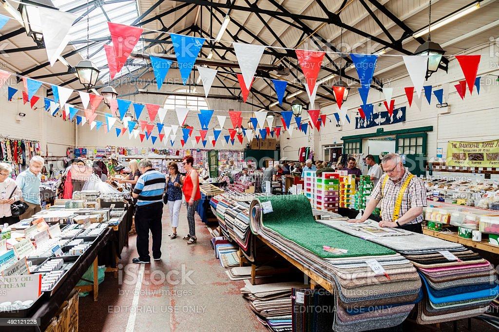 Leek Butter and Trestle Market stock photo