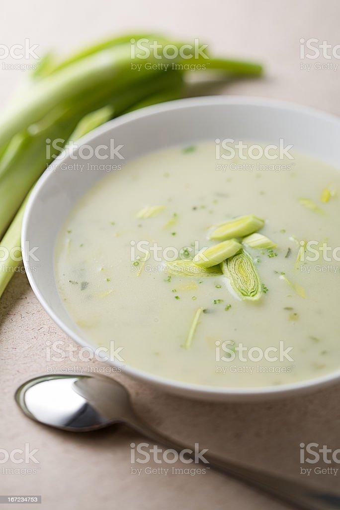 Leek soup royalty-free stock photo