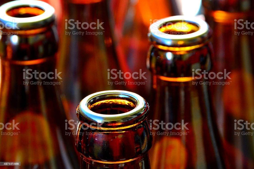 leere Bierflaschen stock photo