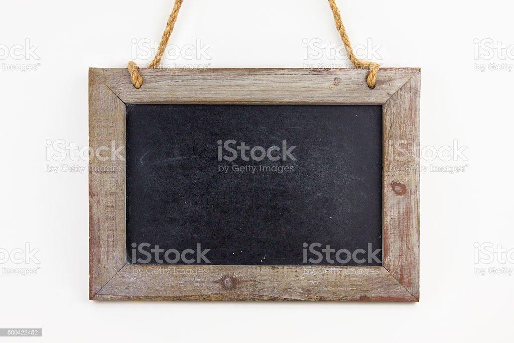 Leere Tafel aus Holz stock photo