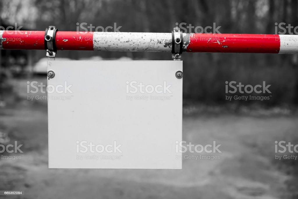 leeres Schild stock photo