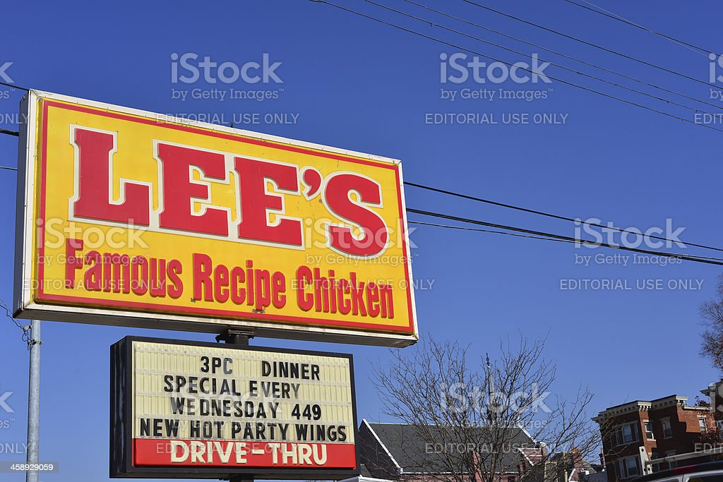 Lee's Famous Recipe Chicken stock photo