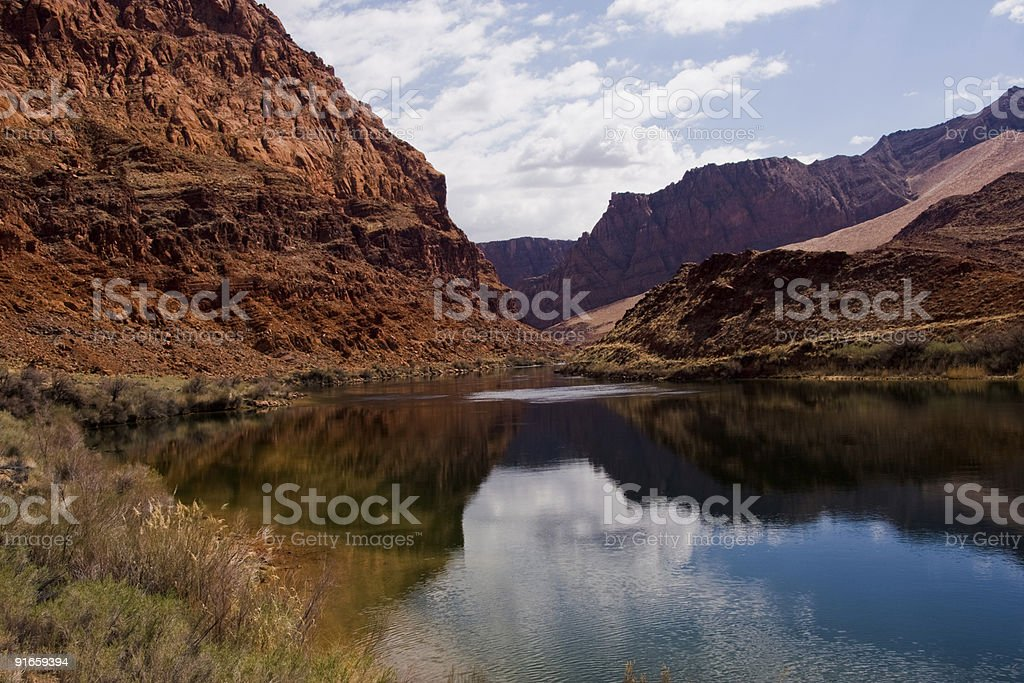 Lee's Ferry crossing on the Colorado River stock photo