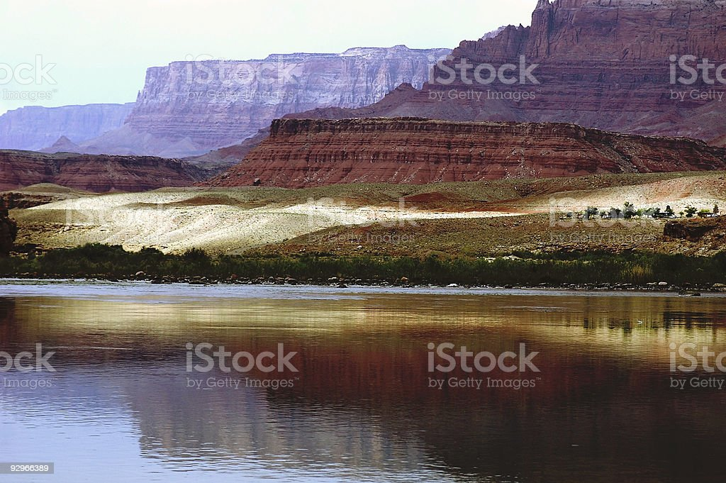 Lees Ferry morning stock photo