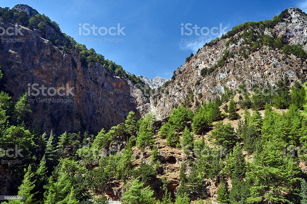 Lefka Ori - rocky sewn stock photo