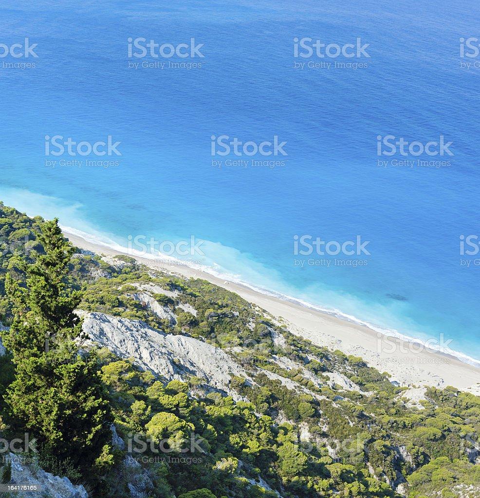 Lefkada coast beach (Greece) royalty-free stock photo