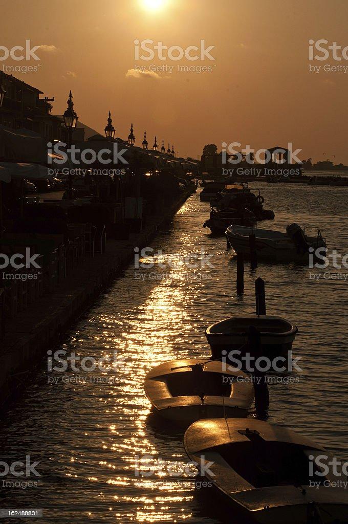 Lefkatha sunset royalty-free stock photo
