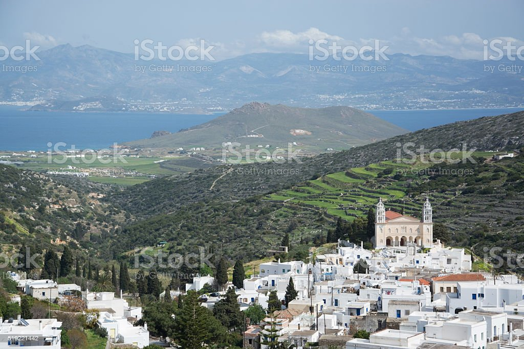 Lefkes, Paros, Greece stock photo