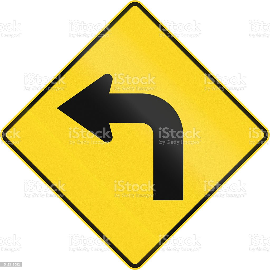 Left Curve Ahead In Canada stock photo