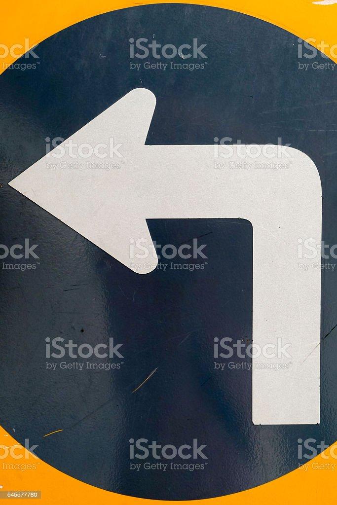 Left direction stock photo