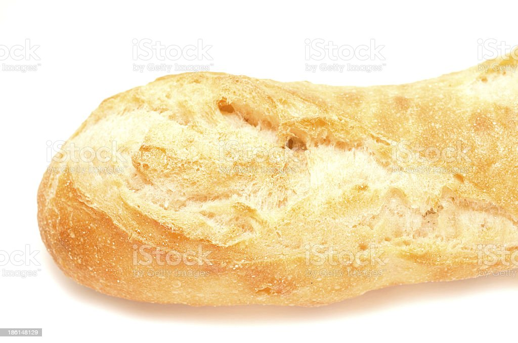 Left end of a french baguette royalty-free stock photo