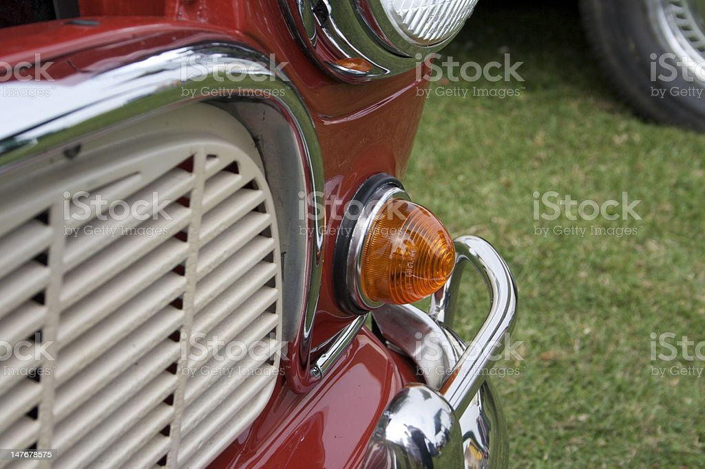 Left Hand Side Classic Car Indicator stock photo