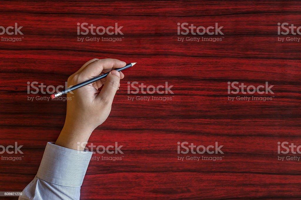 Left hand writing stock photo
