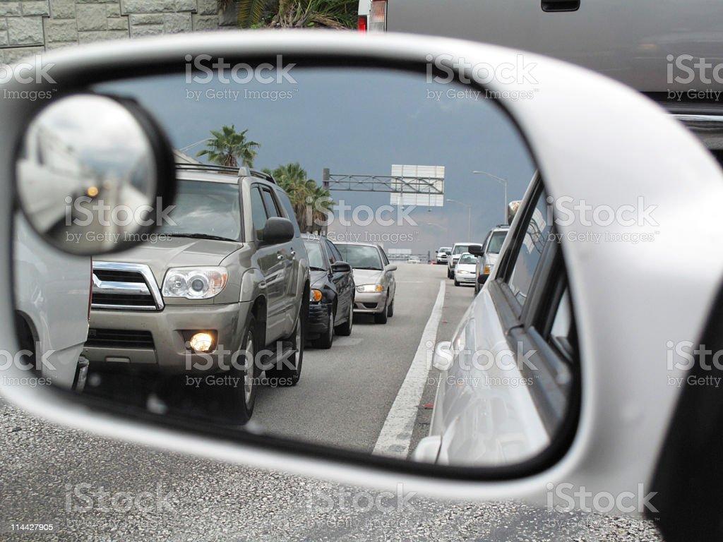 Left mirror stock photo