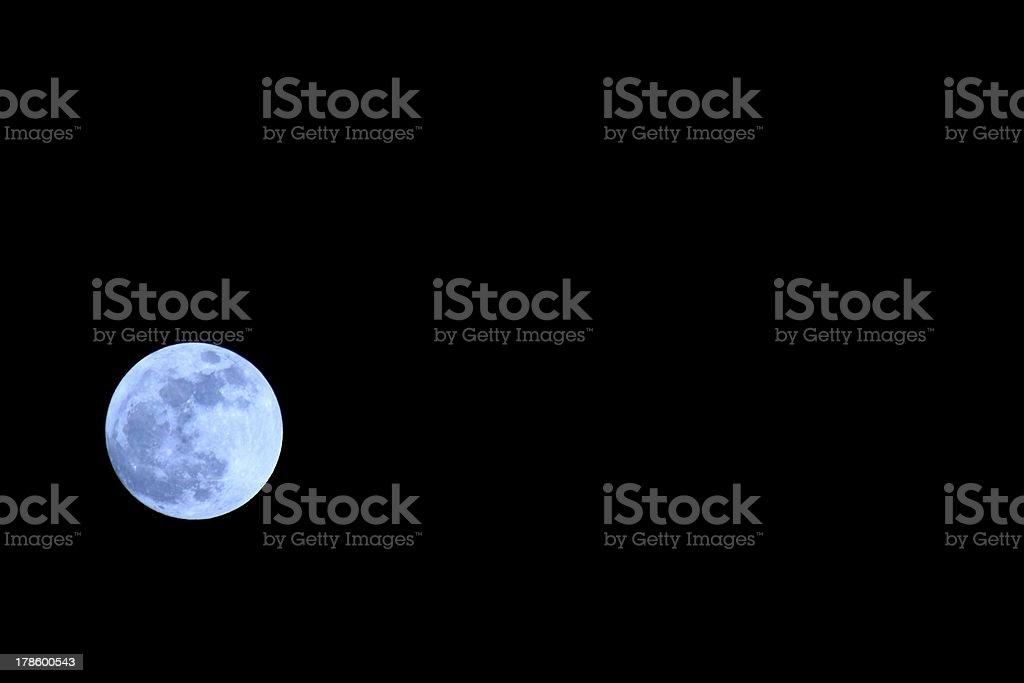 Left Moon royalty-free stock photo