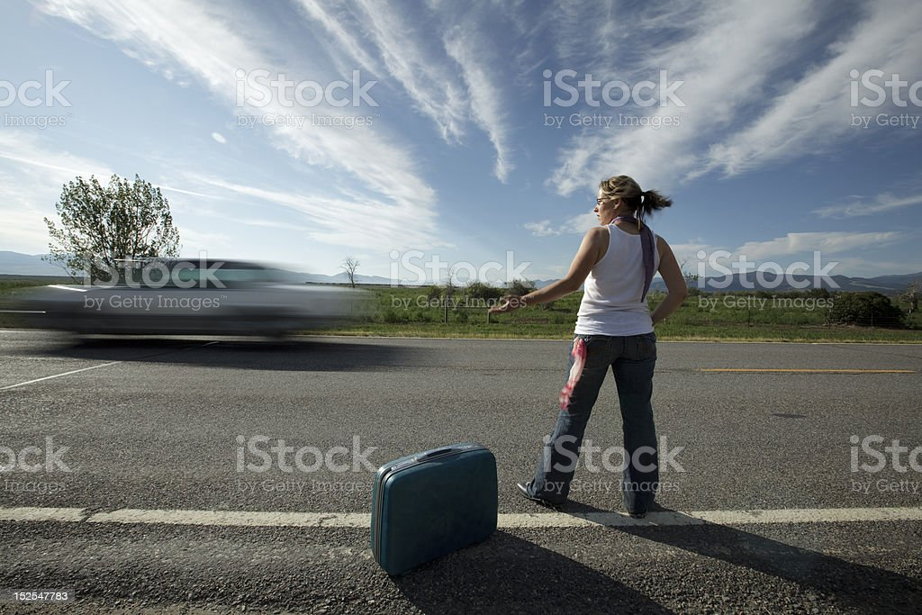 Left on the Road royalty-free stock photo