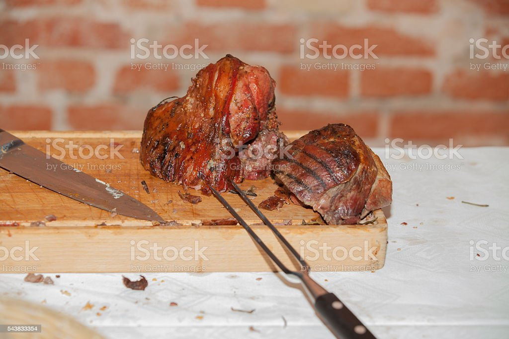 left over meat stock photo
