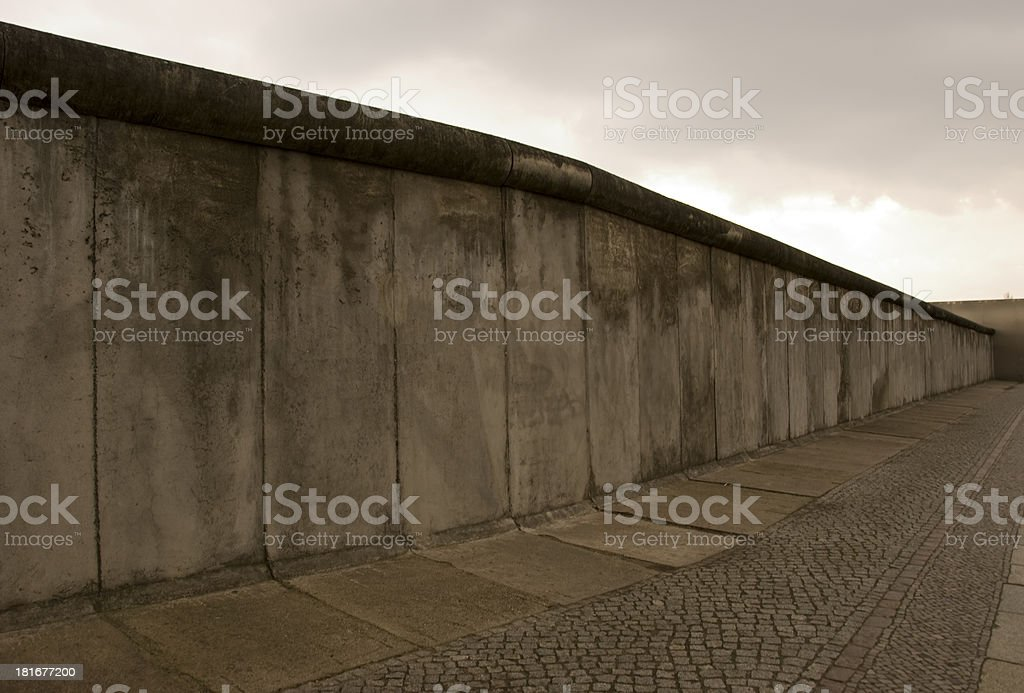 Left part of berlin wall royalty-free stock photo
