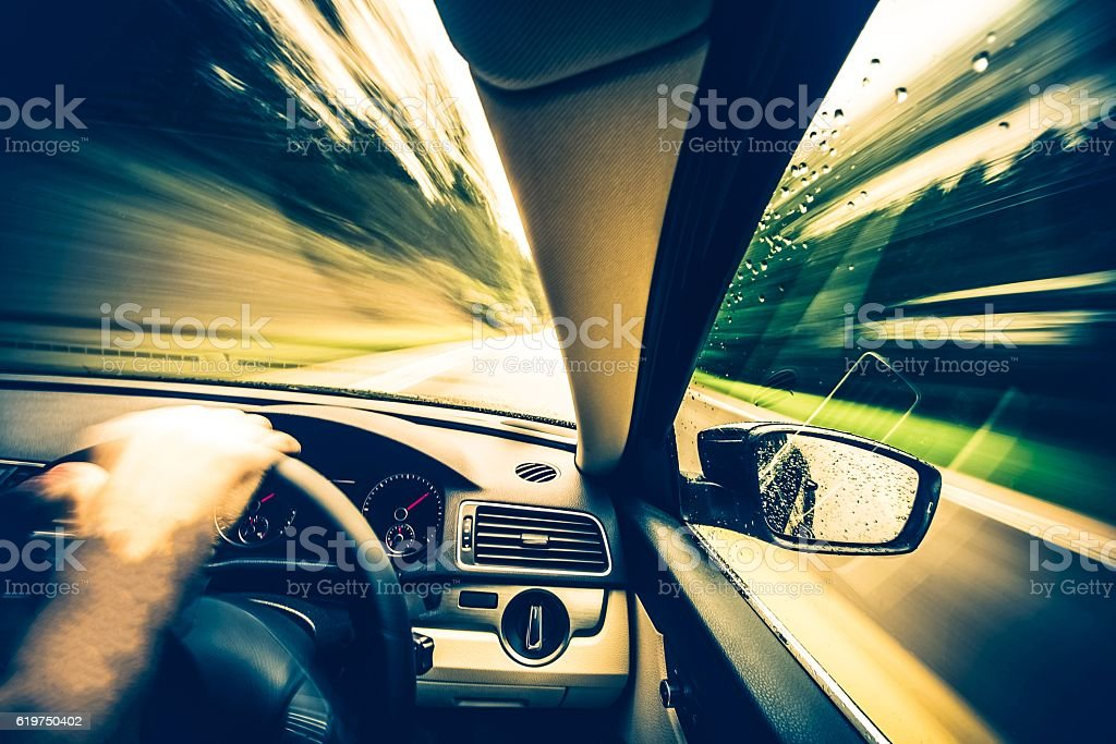 Left Side Driving Concept stock photo