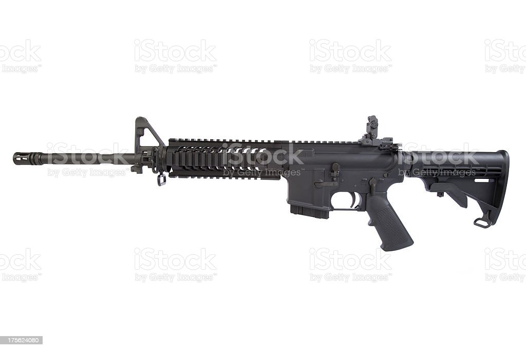 AR-15 Left Side royalty-free stock photo