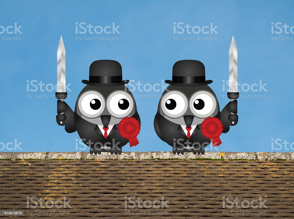 Left wing waring politicians stock photo