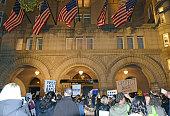 Leftists and instigators protesting Donald Trump election win