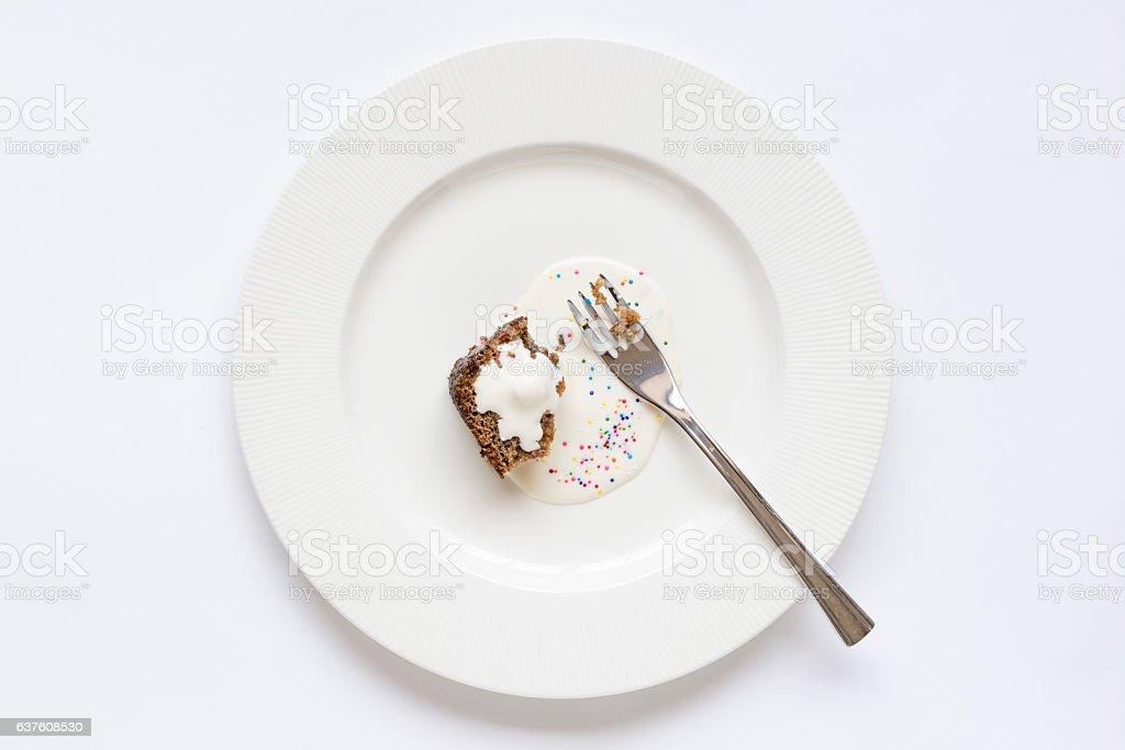 Leftover cake stock photo