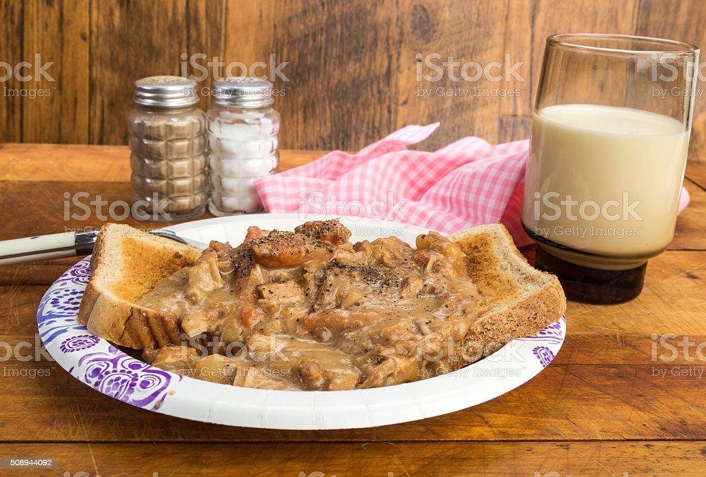 Leftover Pot Roast Sandwich stock photo